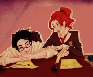 james potter, marauders, and lily evans image