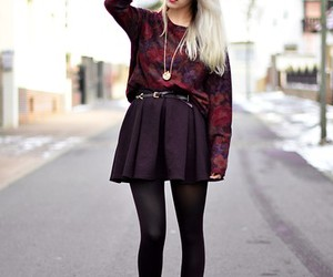black skirt, necklace, and fashion image