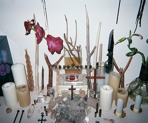 candles, cross, and crucifix image