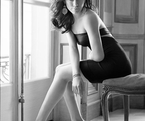 Hilary Duff, black and white, and model image
