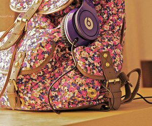 bag, beats, and flowers image