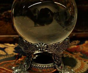 magic, crystal ball, and dark image