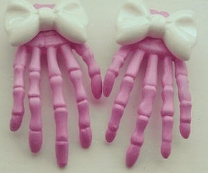 pink, hands, and skeleton image