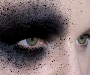 eyes, black, and makeup image