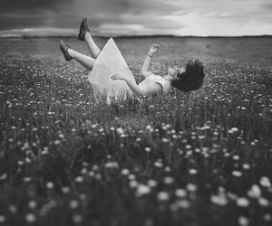 alice in wonderland, b&w, and beauty image