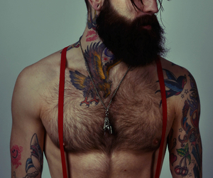 beard, tattoo, and ricki hall image