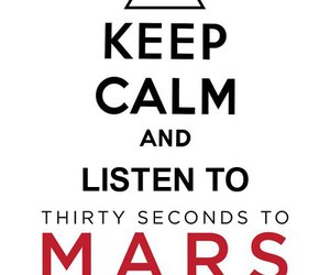 keep calm, 30 seconds to mars, and mars image