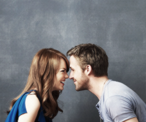 emma stone, ryan gosling, and love image