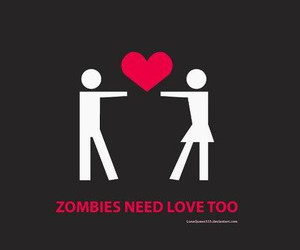 love, zombies, and zombie image