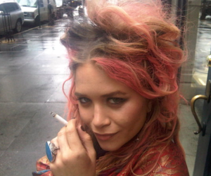 olsen, hair, and cigarette image