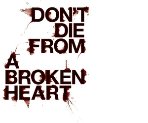 broken heart, love, and quote image