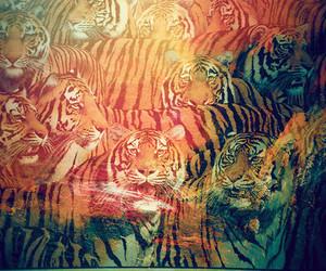 tiger, animal, and art image