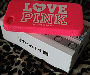 pink, iphone, and love pink image