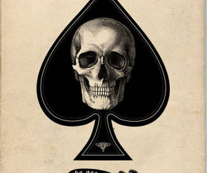 skull, ace, and ace of spades image