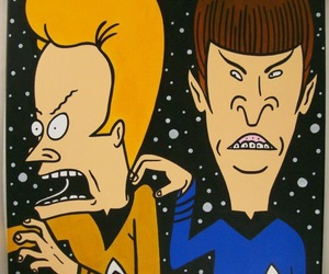 beavis and butthead, spock, and star trek image
