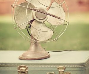 vintage, fan, and suitcase image