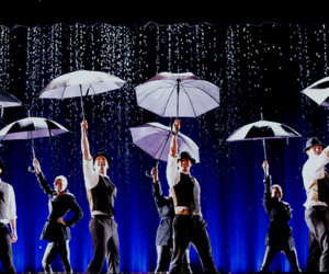 glee, umbrella, and Singing In The Rain image