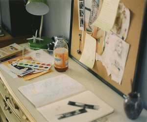 photography, vintage, and desk image