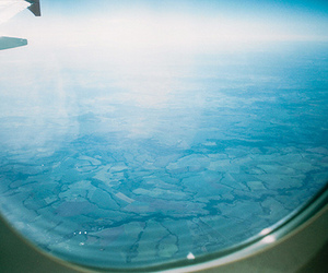 airplane, blue, and window image