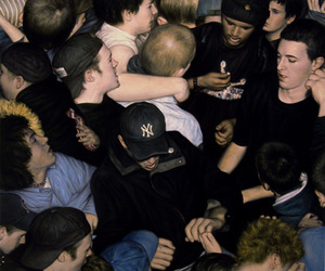 painting, people, and mosh pit image