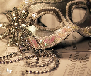 glitter, mask, and masquerade image