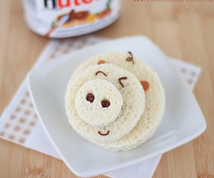 nutella, pig, and food image