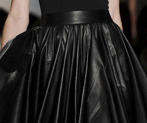 black, leather, and skirt image