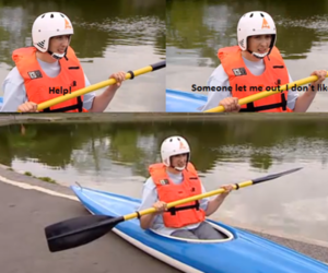 awesome, canoe, and funny image
