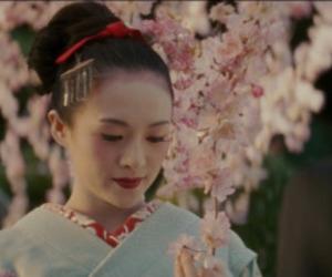 flowers, gueixa, and sakura image