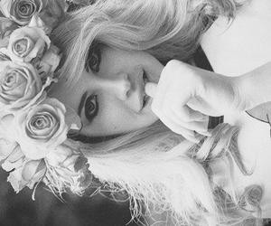 flowers, girl, and lana image