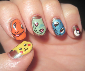 nails, pokemon, and cute image