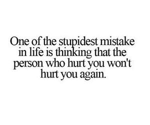 quote, hurt, and mistakes image