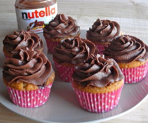 nutella, cupcake, and food image