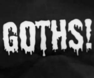 goth, black, and grunge image