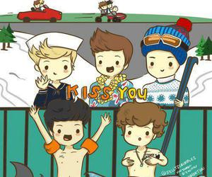 one direction, kiss you, and 1d image