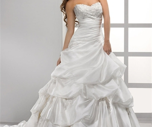 dresses, wedding, and ball gown image