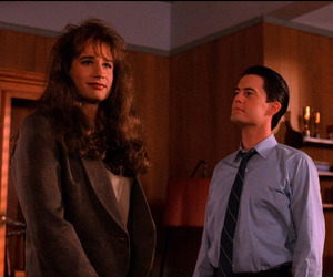 david duchovny, Kyle MacLachlan, and Twin Peaks image