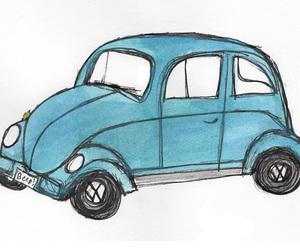 car, drawing, and illustration image