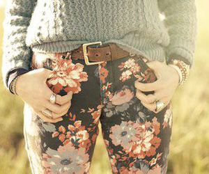 fashion, floral, and jeans image