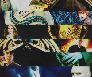 harry potter, voldemort, and hermione image