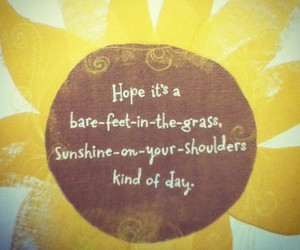 quote and sunshine image
