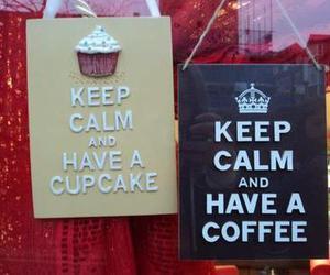 coffee, cupcake, and keep calm image