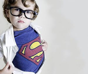 kid, superman, and cute image