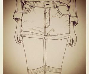 art, girl, and shorts image