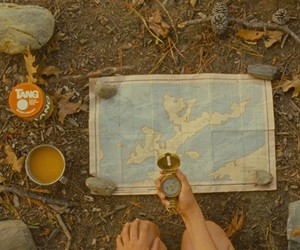 moonrise kingdom, map, and compass image