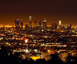 light, city, and los angeles image