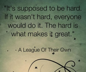 quote, hard, and life image