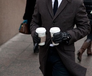 coffee, fashion, and man image