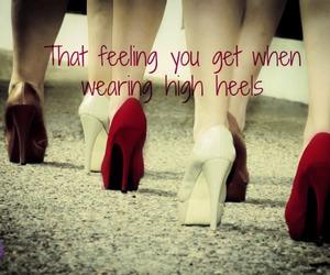 feeling, girl, and high heels image