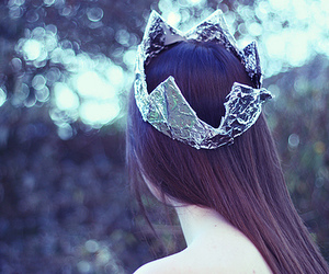girl, crown, and hair image